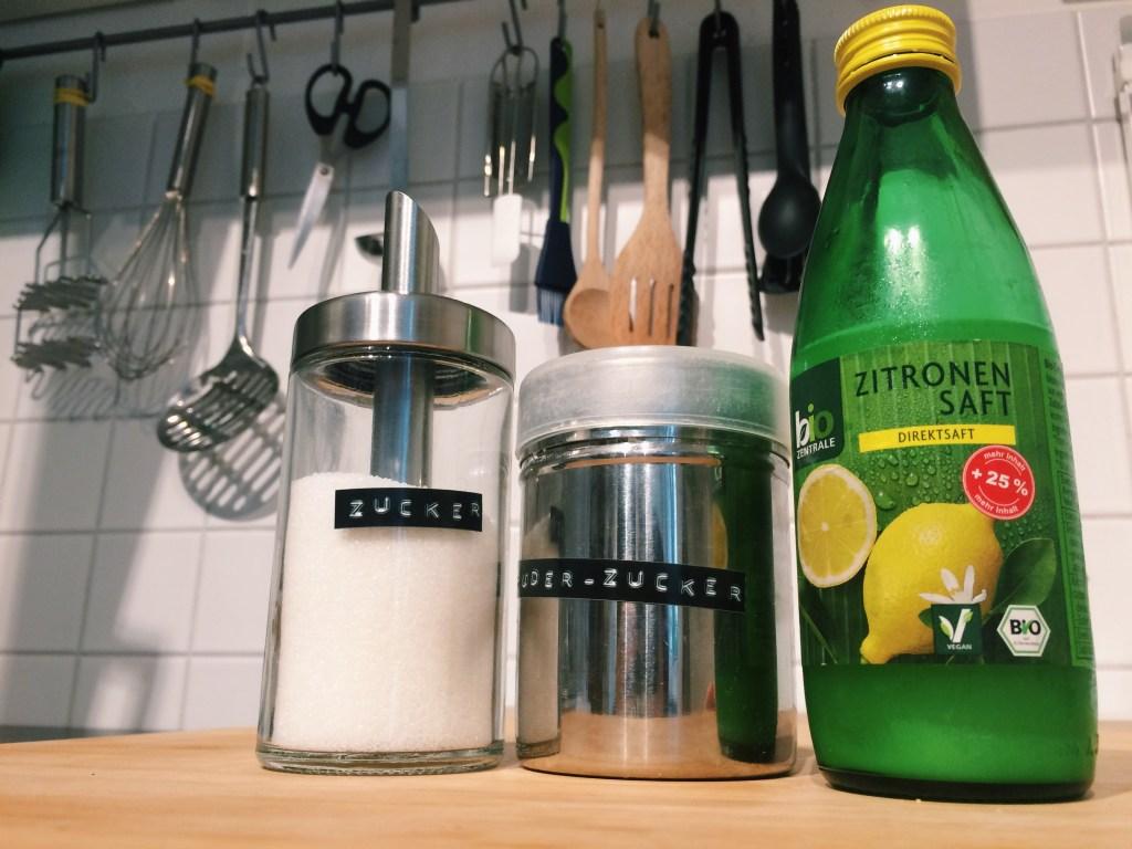 Lemon glaze ingredients