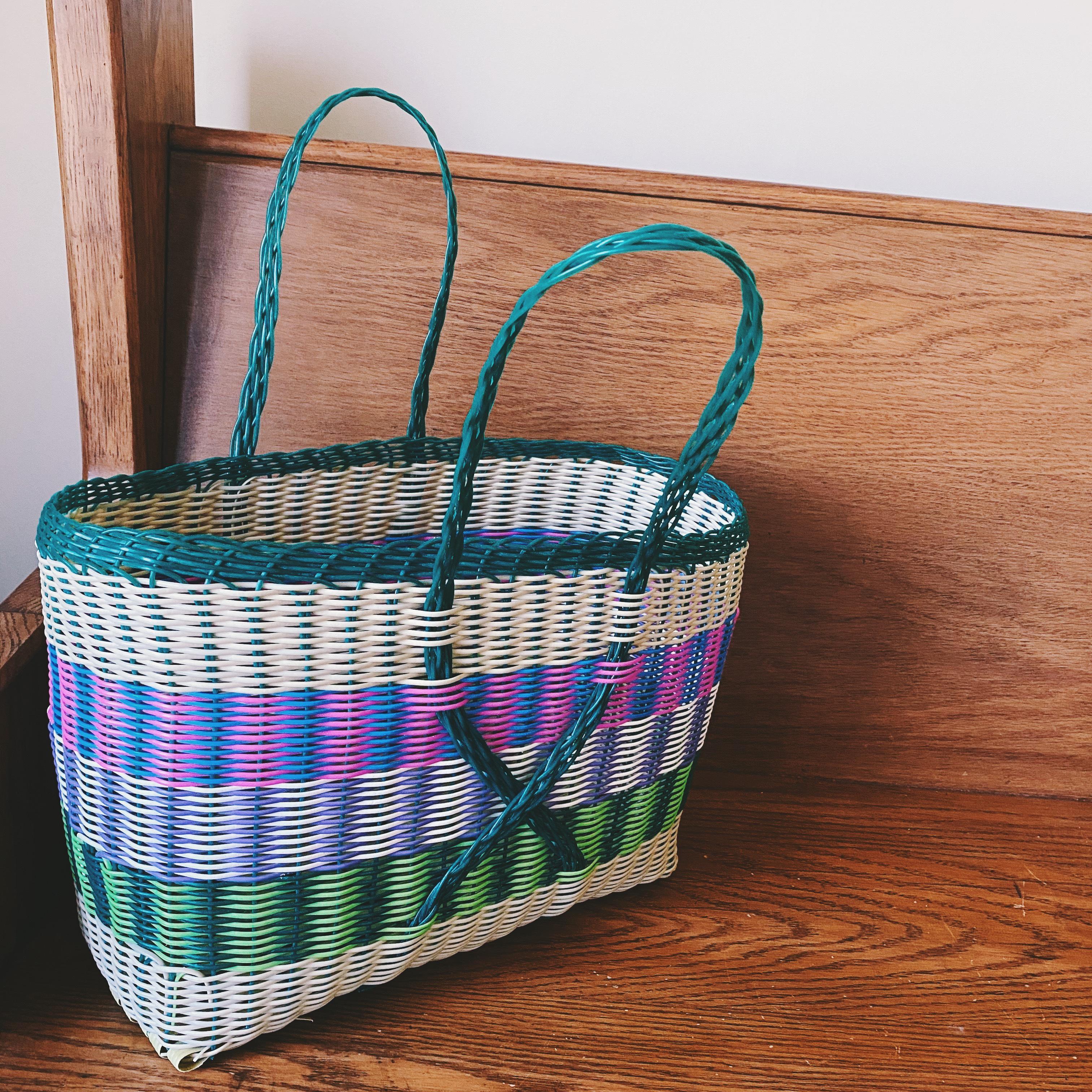 Guatemalan Mosaic Plastic Market Basket
