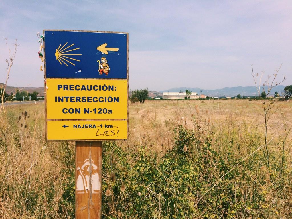 Camino Frances sign