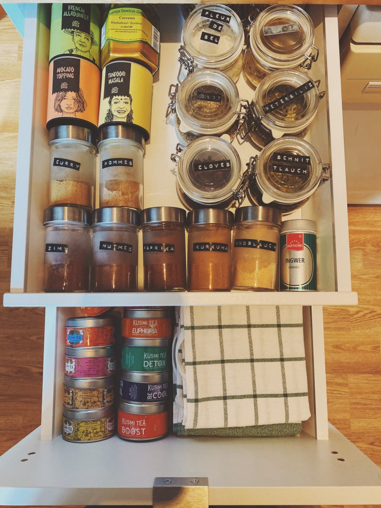 organised spice cabinet