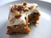 Carrot Cake with Apple and Pecan