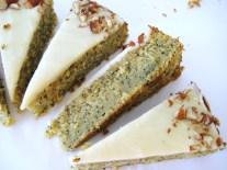 Lemon-Poppyseed Zucchini Cake with Brown Butter & Lemon Icing