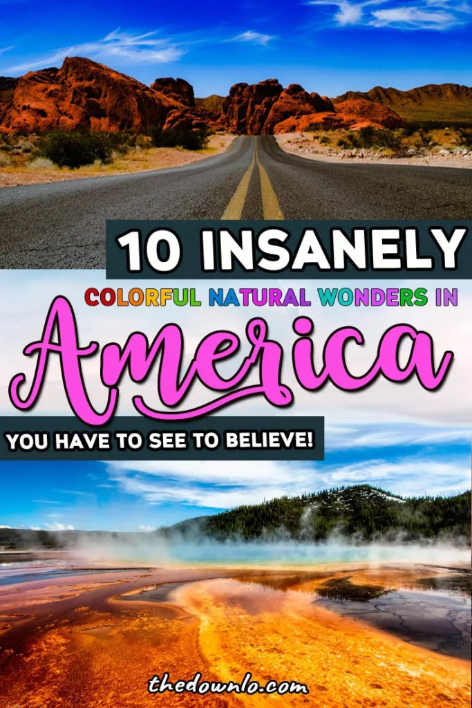 The most beautiful natural wonders in America span the country from national parks like the Grand Canyon and Yellowstone to off the beaten path gems and hidden waterfalls. If you're looking for destination or road trip inspiration and insane landscapes, these dream nature spots in the US are the must-see #USA #travel destinations. Wanderlust pictures, commence. #america #nature