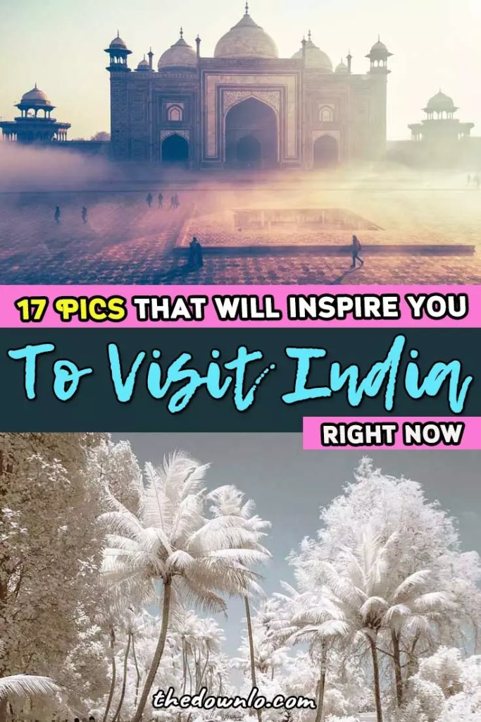 India travel: beautiful places and destinations for Instagram photography and wanderlust. Amazing photos, pictures, cities, temples, nature, and culture for adventure, palaces, and trips. Honeymoons across the country in Kerala, New Delhi, Jaipur, Taj Mahal, beaches, and beyond for beauty, inspiration, and dreams. #india #travel #bucketlist