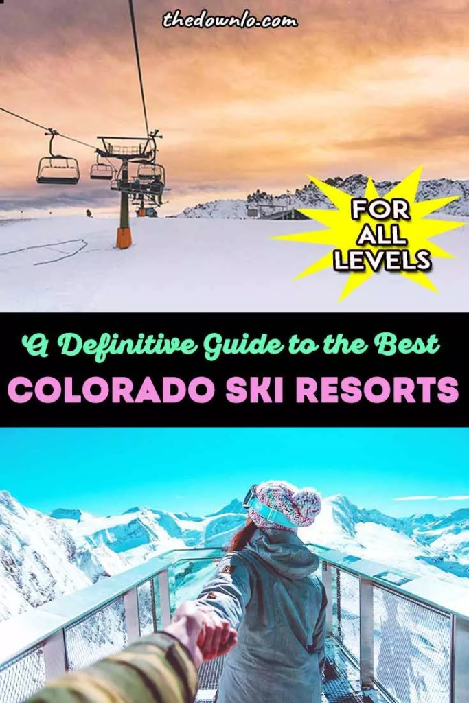 Colorado ski resorts: Headed to CO for a winter skiing or snowboarding trip? Here are the best ski resorts in Colorado for beginners to experts and everyone in between with kids or solo. We have plenty of family friendly ski areas for fun vacations in the snow in beautiful places in the United States from Vail to Aspen, Telluride, Beaver Creek, Winterpark, and Breckenridge plus fun snow activities off the slope. #usa #winter #ski #skiing #co #colorado