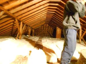 This is about 3/4 of the attic. Insulation is finished