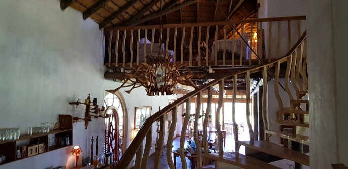 The impressive staircase in Antbear's Dining Area.