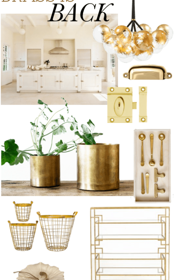 Brass is Back Kitchen || The Dreamery