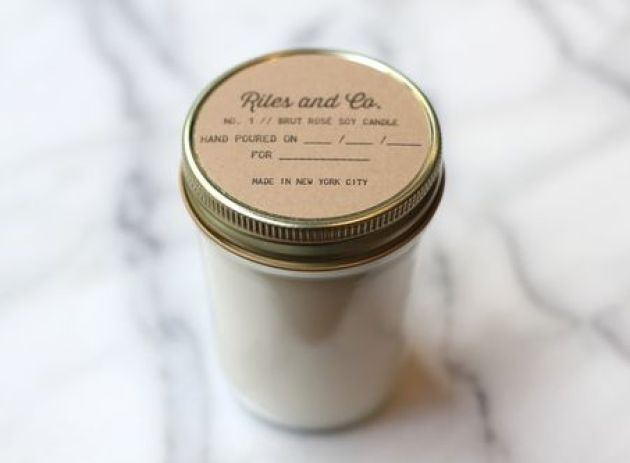 RIles and Co. soy hand poured candles