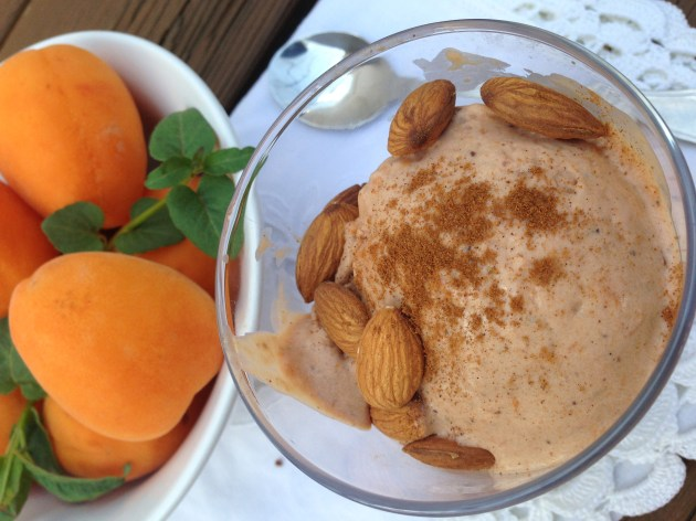 Roasted Apricot and Lemon Hibiscus Tea Ice Cream