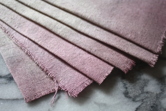 Naturally Dyed Linens Using Wine