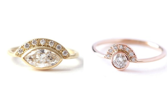 Wedding Spotlight: Rose Gold Engagement Rings