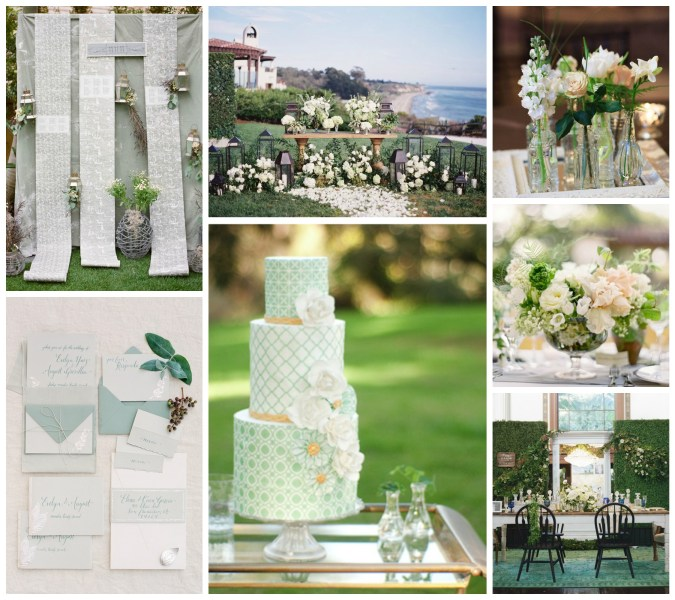 Green + White Wedding Ideas