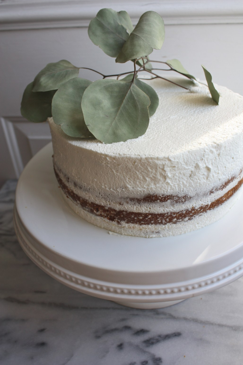 Classic Vanilla + Passion Fruit Curd Whipped Cream Layered Cake