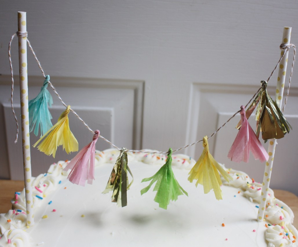 How To: Tassel Garland Cake Topper