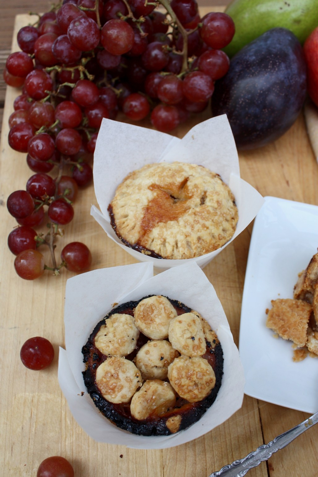 Individual Autumn Pies : Maple Brown Sugar Apple & Pear, Grape, Plum | Dreamery Events
