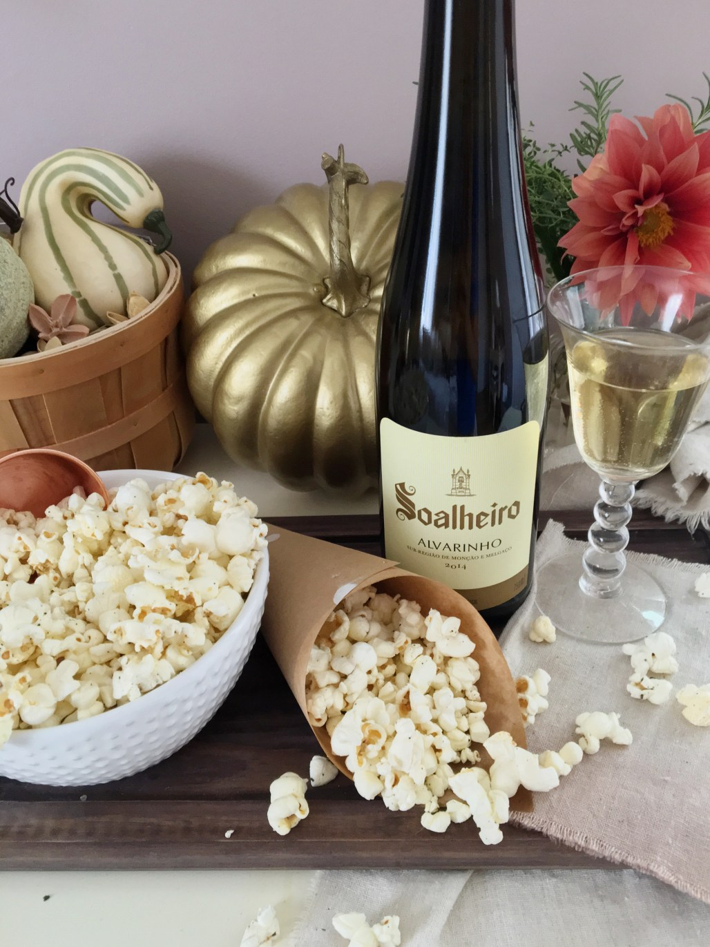 3 Perfect Popcorn + Wine Pairings for a TV Night In | Dreamery Events