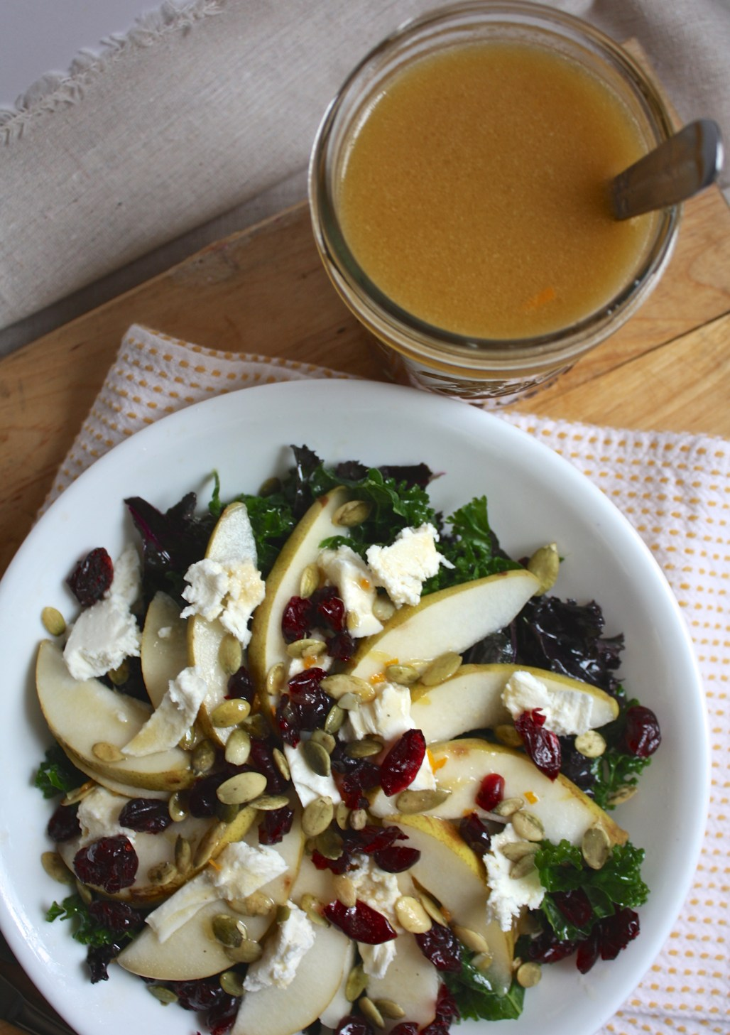 Orange Walnut Dressing & My Favorite Winter Salad | Dreamery Events