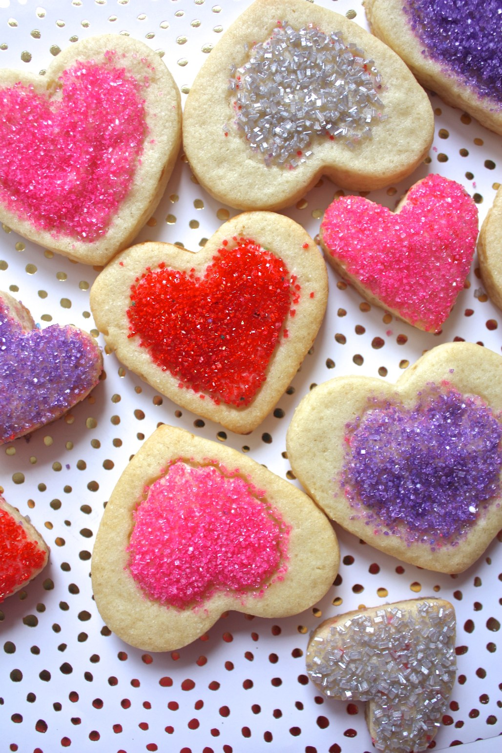 Valentine Sugar Cookie Hearts & 3 Ways to Decorate w. Sugar Crystals | Dreamery Events