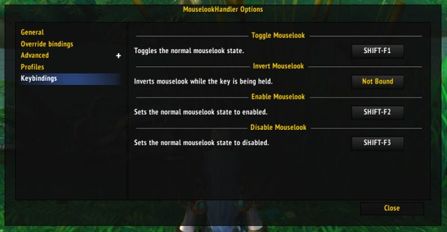 MouseLookHandler keybindings