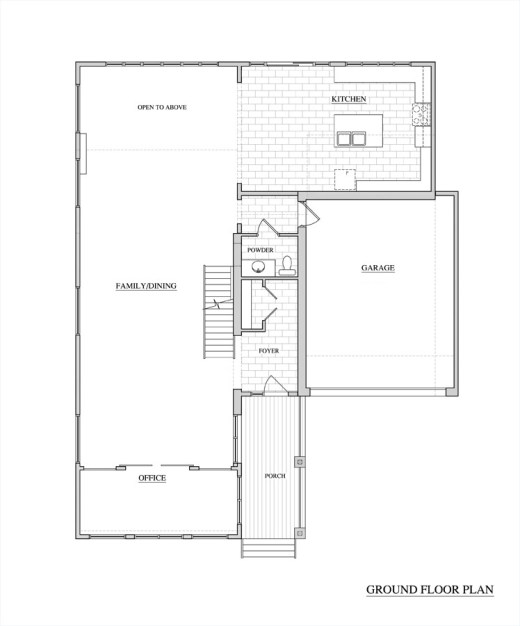 Washington Residence Ground Floor Plan by KW Design