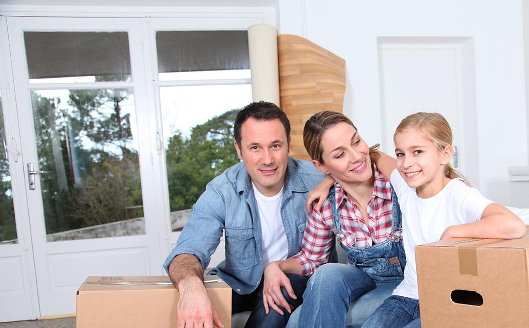 Photo: Happy family moving