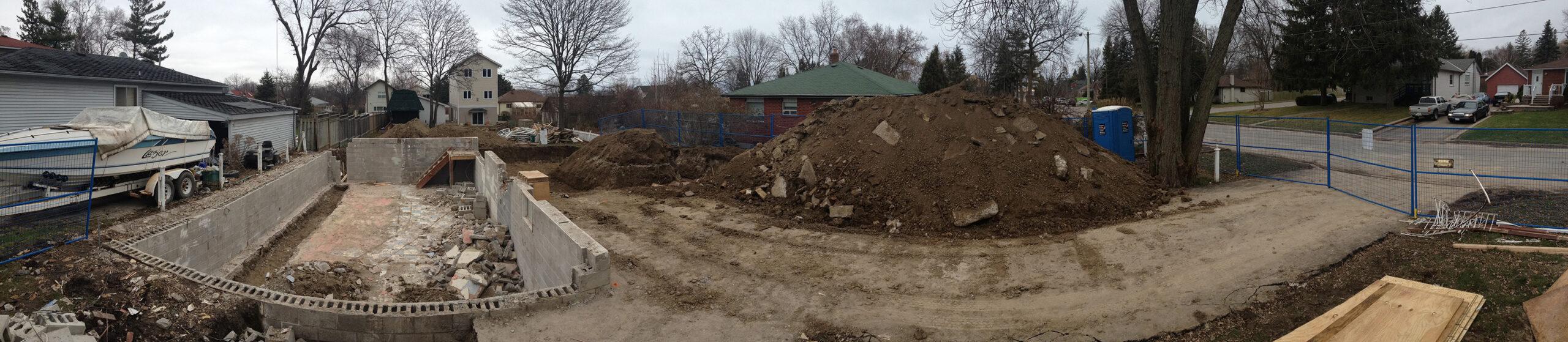 Dreamhouse construction site - post demo