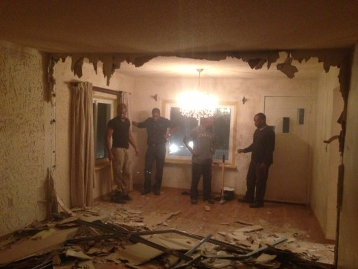 Living room wall AFTER