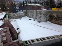 Our new foundation - under a blanket of snow.