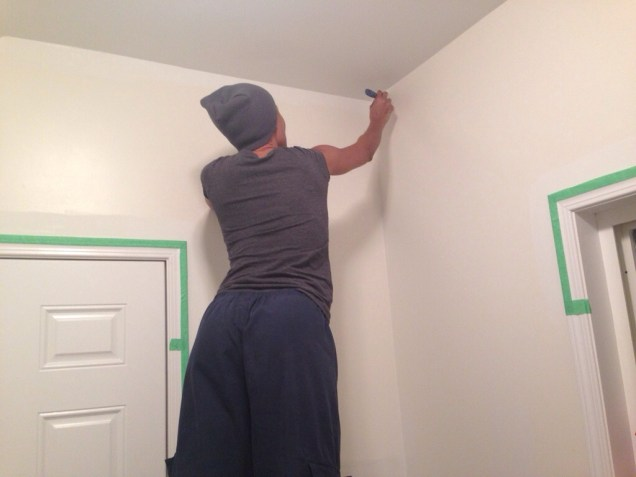 Walls getting primed