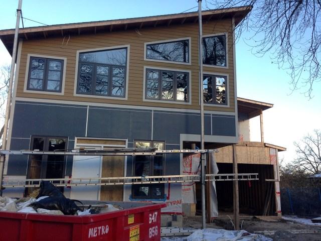 Dreamhouse front exterior progress
