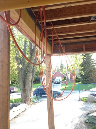 Pex loops coming along for DIY radiant heating install