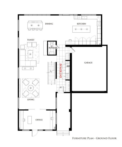 Washington Residence Ground Floor Interior Furniture Plan by Lisa Lev Design