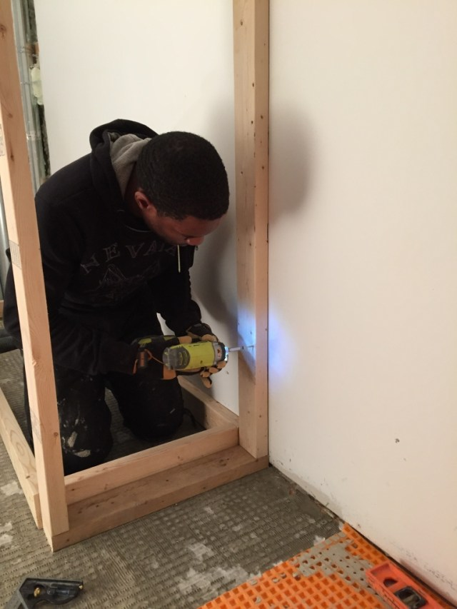 Kes framing the closet surround