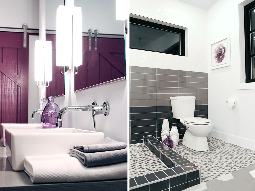 Delta Trinsic wall mounted faucets & American Standard toilet - Master Bath Retreat | The Dreamhouse Project