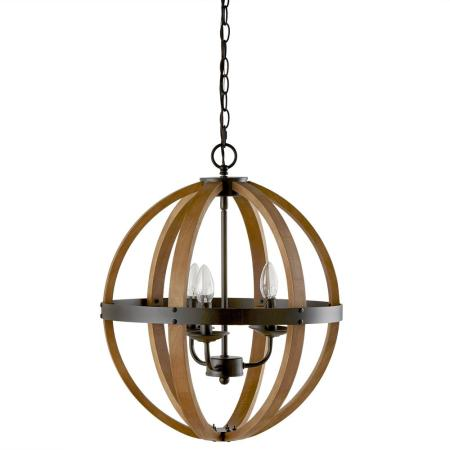 Bouclair Home Wood Sphere Chandelier Ceiling Lamp