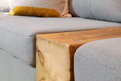 Close up of barn beam sofa insert