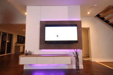 Dreamhouse Project DIY media wall LED lights violet