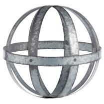Galvanized metal decorative ball