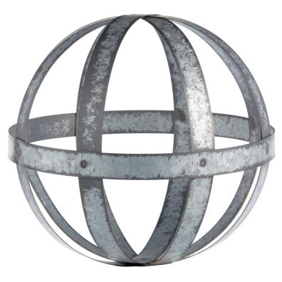 Galvanized metal decorative ball