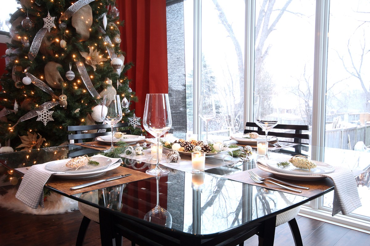 Dreamhouse Project rustic glam Christmas dining table