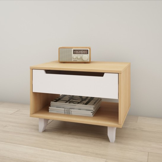 Wade Logan Veer 1 Drawer Nightstand