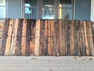 Reclaimed pallet wood boards power washed & ready to dry