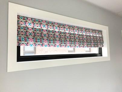 DIY faux roman blinds