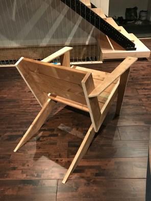 DIY Modern Muskoka Chair - rear angle view