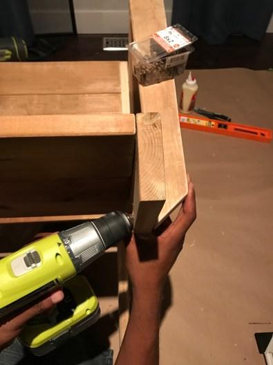 Countersink armrest holes on an angle