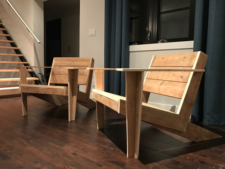 DIY Modern Muskoka Chairs