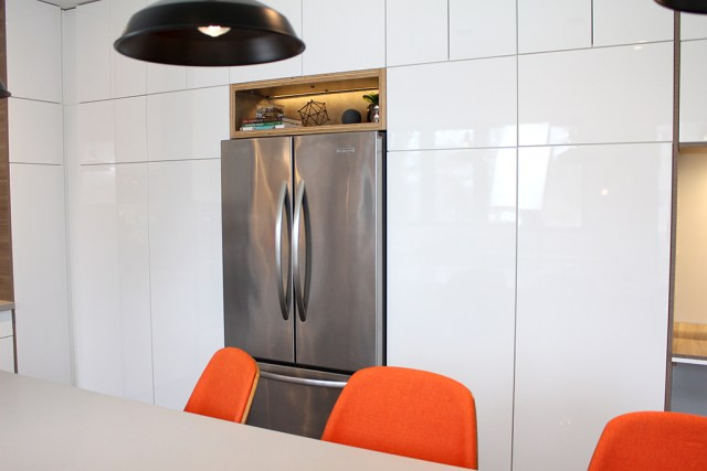 The Dreamhouse Project - Dream Kitchen Reveal - Orange bar stools