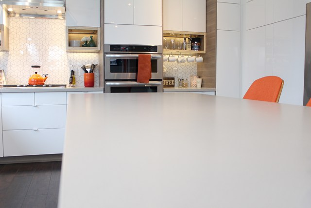 The Dreamhouse Project - Dream Kitchen Reveal with HanStone Quartz countertops in Artisan Grey