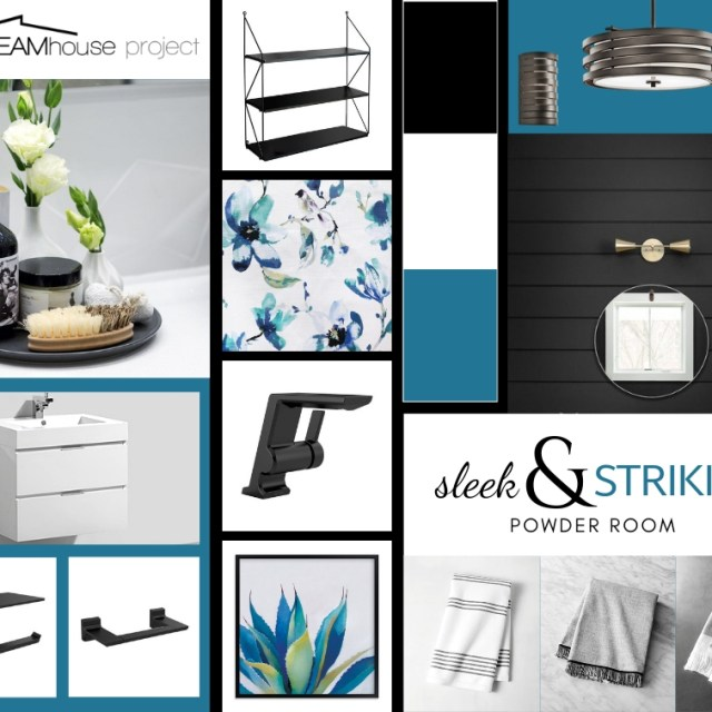 Creating a sleek & striking powder room